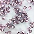 Facet kralen 8mm rond metallic paars roze
