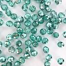 Facet kralen 8mm rond metallic turquoise