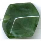 kunststof kralen 44mm groen ruit