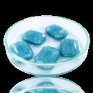 Fancy stones glas 18mm blauw rechthoek