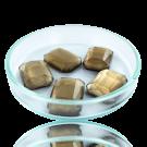Fancy stones glas 18mm bruin rechthoek