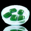 Fancy stones glas 18mm lichtgroen rechthoek
