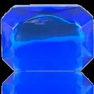 fancy stones 40mm blauw rechthoek