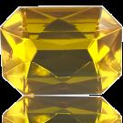 fancy stones 40mm geel rechthoek