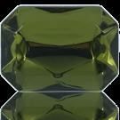 fancy stones 40mm groen rechthoek kleurnummer 5024