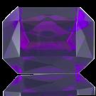 fancy stones 40mm paars rechthoek