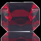 fancy stones 40mm rood rechthoek