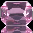 fancy stones 40mm roze rechthoek