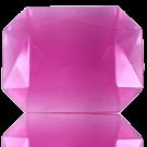 fancy stones 40mm roze rechthoek kleurnummer 7011
