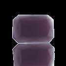 fancy stones glas 18mm paars rechthoek glas