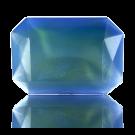 fancy stones 25mm blauw rechthoek glas