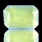 fancy stones 25mm groen rechthoek glas