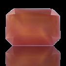 fancy stones 25mm rood rechthoek glas