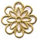 filigrain sier 20mm goud rond