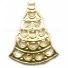 filigrain 18mm goud driehoek