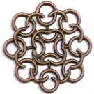 filigrain 6mm brons rond