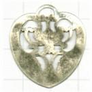 filigrain 28mm oudzilver hartje