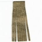 Franjeband 65mm goud leer