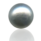 glasparels bouton 6mm grijs rond
