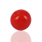 Ronde glaskraal 12mm rood