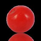 Ronde glaskraal 14mm rood