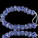 glaskraal 12mm blauw rond