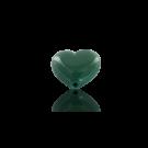 Glaskralen 10mm hartje donker groen opaque