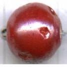 glaskralen 10mm rood rond kleurnummer 9321