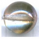 Glaskraal rond 12mm roze rond