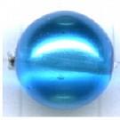 Glaskraal rond 12mm blauw rond