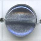 glaskralen 3mm paars rond