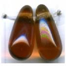 glaskralen 11mm bruin druppel kleurnummer 1023