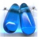 glaskralen 11mm blauw druppel kleurnummer 6005