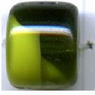 glaskralen 14mm groen cilinder