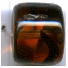 glaskralen 14mm bruin cilinder
