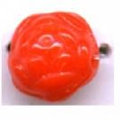 glaskralen 7mm oranje rond bewerkt