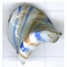 speciale glaskralen 22mm blauw kleurnummer 8
