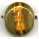 glaskralen 14mm bruin rond