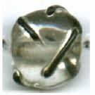 glaskralen 12mm kristal zwart rond