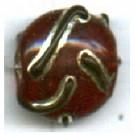 glaskralen 12mm rood rond kleurnummer 9011