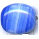 glaskralen 13mm blauw ovaal kleurnummer 3501