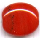 glaskralen 13mm rood ovaal kleurnummer 9123