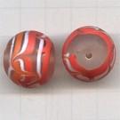 glaskralen 20mm oranje rond