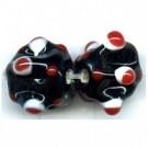 glaskralen 12mm zwart rond