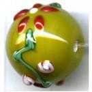 glaskralen 16mm groen rond
