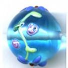 glaskralen 16mm blauw rond kleurnummer 3631