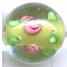 glaskralen 13mm groen rond