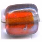 glaskralen 11mm rood blokje