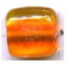 glaskralen 11mm oranje blokje