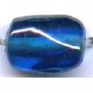 glaskralen 13mm blauw rechthoekig kleurnummer 6006